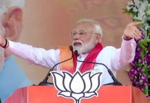 Prime Minister Narendra Modi addressing a rally at Patan on Sunday.