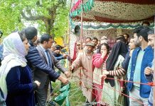 PDP president Mehbooba Mufti during a rally in Anantnag. -Excelsior/Sajad Dar
