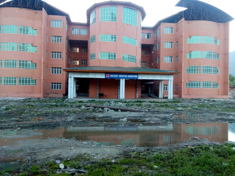 Incomplete building of District Hospital Bandipora.-Excelsior/Aabid Nabi