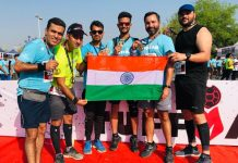 JRG members posing for a photograph after excelling in 1st Edition of Gurugram Tuffman Marathon.