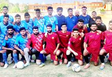 Winners posing alongwith dignitaries and officials at Mini Stadium, Parade in Jammu.