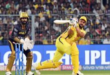 CSK batsman Suresh Raina executing a shot during an IPL match against KKR at Kolkata on Sunday.