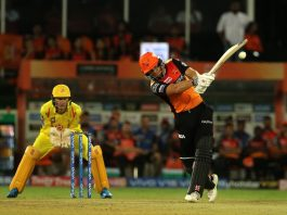 SRH batsman Jonny Bairstow executing a shot against during his knock of 61 runs against CST at Hyderabad on Wednesday.