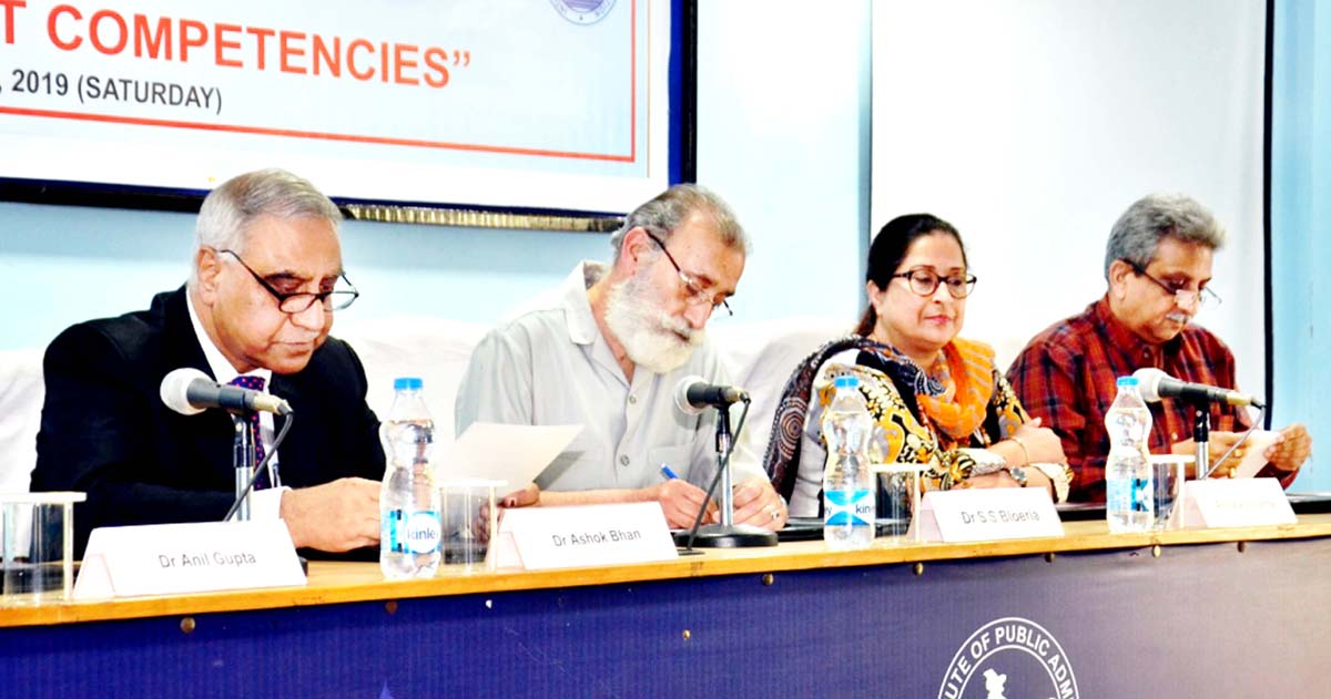 """Dignitaries during one day training programme on """"Management Competencies"""" at IIPA, J&K Regional Branch on Saturday."""
