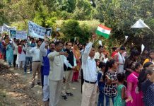 Members of Christian community at Easter procession in Udhampur.