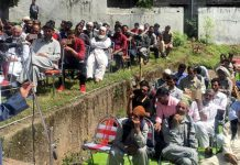 Former MLC Shehnaz Ganai addressing a gathering at Poonch on Sunday.