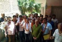 Udhampur Beopar Mandal team which was elected unopposed.
