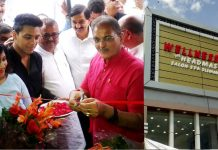 Former DyCM Kavinder Gupta inaugurating The Headmasters Wellness Zone at Udhampur on Thursday.