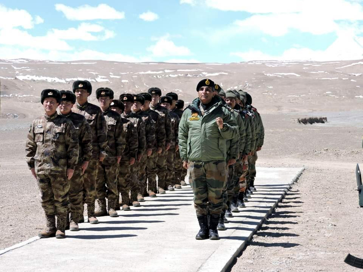 India and China military officials on LAC in Eastern Ladakh sector on Wednesday.