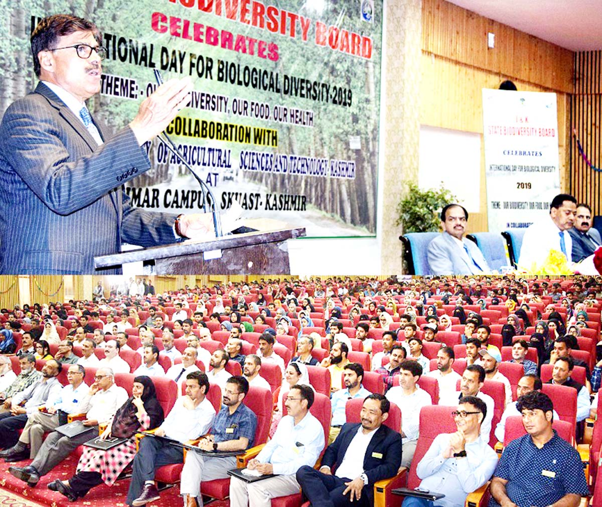 K Vijay Kumar, Advisor to Governor, addressing a function at Shalimar Campus of SKUAST-K in Srinagar.