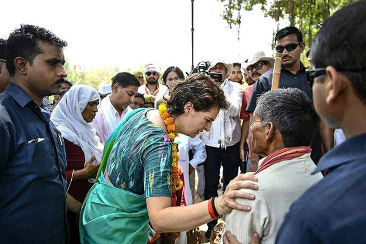 Congress General Secretary Priyanka Gandhi Vadra during an election campaign for Lok Sabha polls, in Amethi on Wednesday.