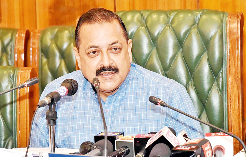 Union Minister Dr Jitendra Singh interacting with media at New Delhi.