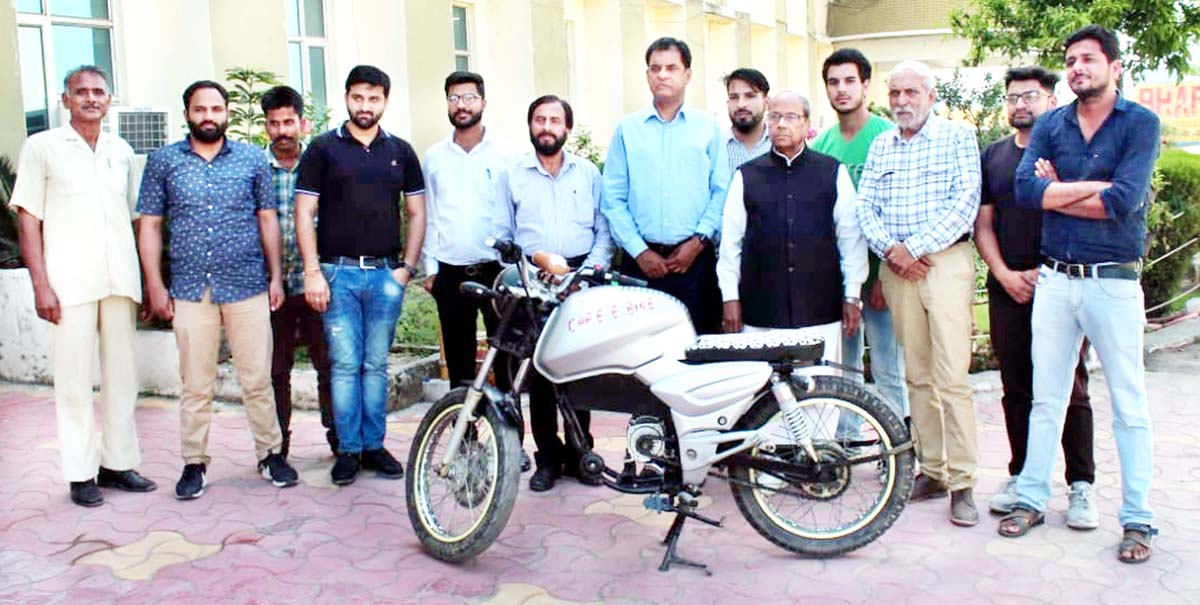 The new electric bike developed by students of BCET Supwal.
