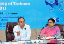 Principal Secretary, Planning Rohit Kansal addressing the Master Trainers in Jammu on Saturday.