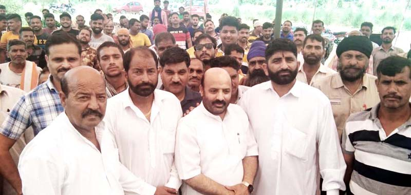 Former Minister, Bali Bhagat during a meeting at Barn on Monday.