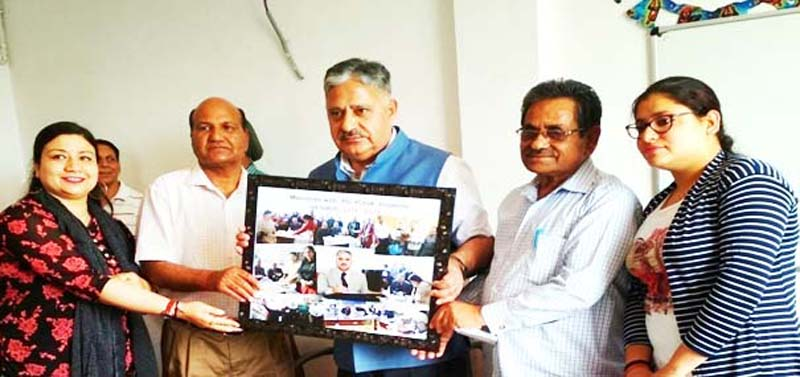 Vice Chancellor CUJ Prof Ashok Aima and others during book release function at Jammu.