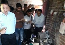 Momos found kept in unhygienic and insanitary conditions at a residential house in Gorkha Nagar, Jammu during a raid of Food Safety team.