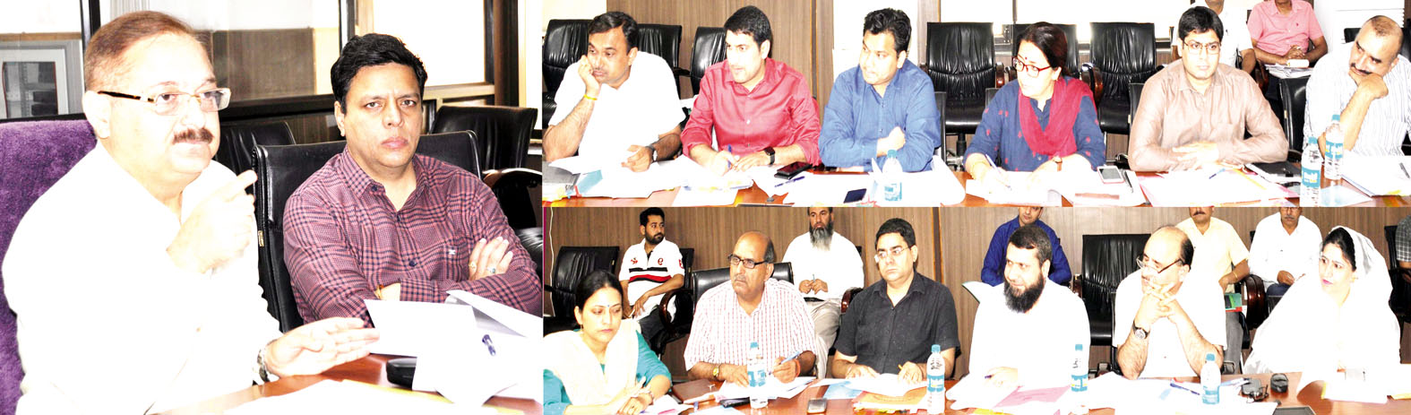 FCR Dr Pawan Kotwal chairing a meeting on Monday.
