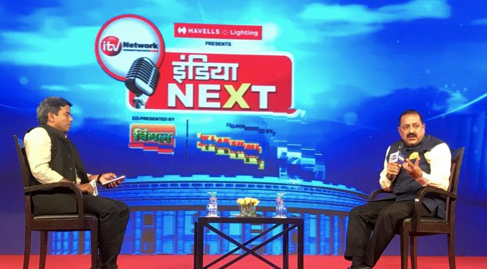 Union Minister, Dr Jitendra Singh speaking at the 'India Next Conclave' in New Delhi on Friday.