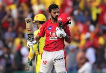 K L Rahul celebrating his half-century against CSK at Mohali on Sunday.