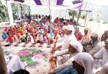 BJP J&K Spokesperson, Ranbir Singh Pathania during a function at Ravi Dass Mandir, Ramnagar on Wednesday.