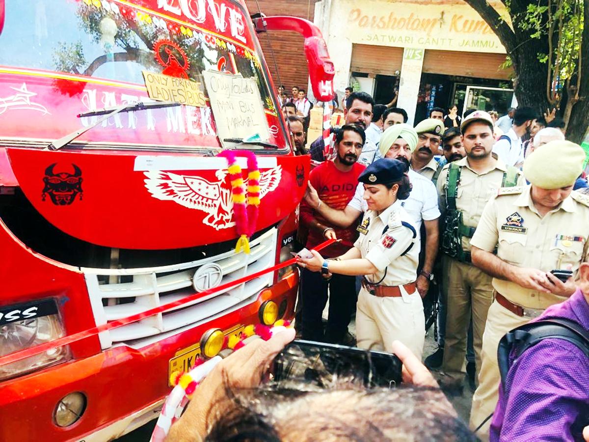 SDPO Gandhi Nagar Dr Sunniya A Wani launching exclusive matador for women on Wednesday.