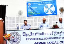 An expert addressing the participants during a seminar at IEI Jammu Centre.