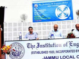 An expert addressing the participants during a seminar at IEI Jammu Centre.