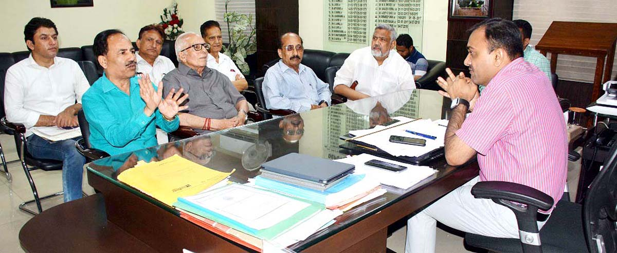 Deputy Commissioner Jammu, Ramesh Kumar chairing a meeting on Friday.