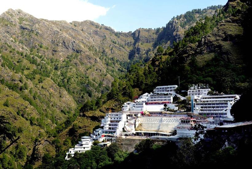 A view of Mata Vaishno Devi Ji Bhawan located between Trikuta Hills. (UNI)