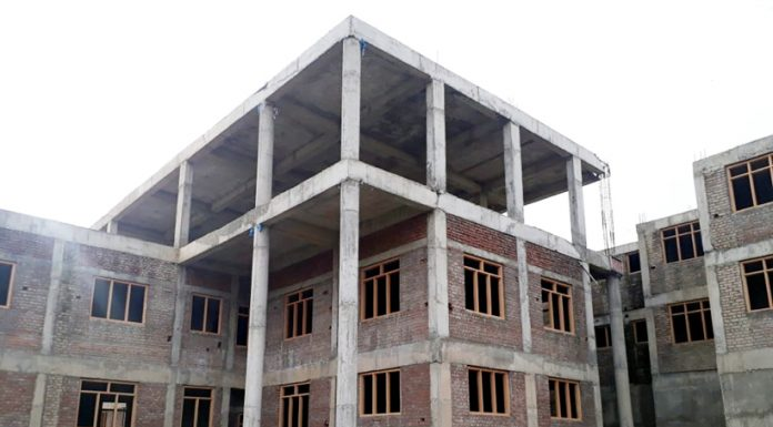 Under-construction DIET complex in Pulwama.