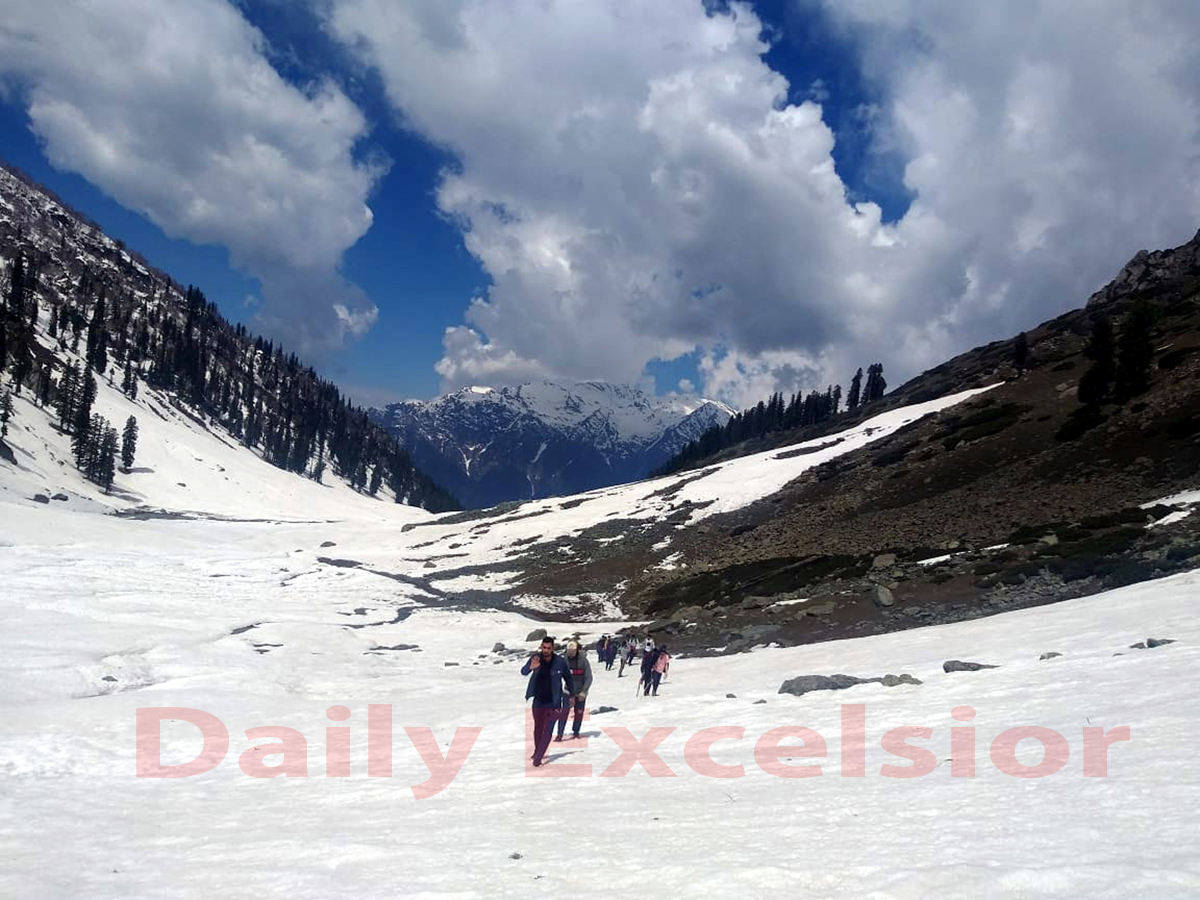 Beautiful view of Tulyan lake, about 12 kms from Pahalgam tourist resort in South Kashmir -Excelsior/Sajad Dar