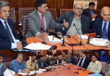 Advisors chairing high-level meeting on traffic movement on Highway and Mughal road on Thursday.