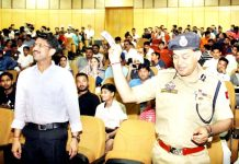 IGP Jammu, M K Sinha during the PPCL auction at Jammu on Saturday.