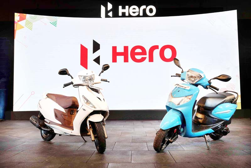 New scooters launched by Hero MotoCorp Limited in Jammu.