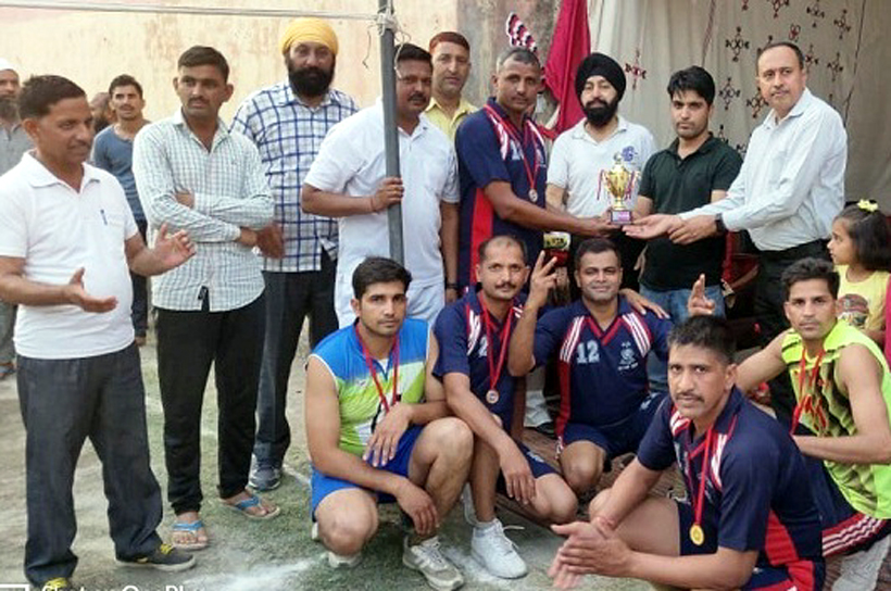 Winners of Volleyball Tournament organised by District Jail Kathua.