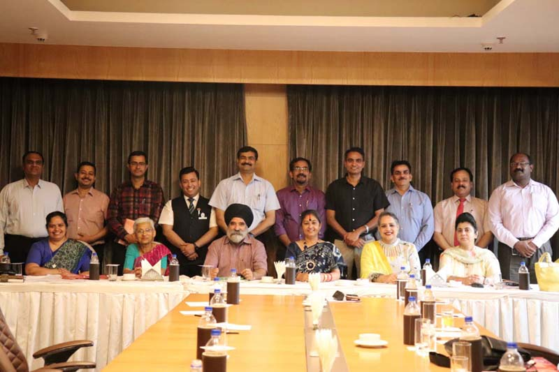 Principals of reputed CBSE schools during a meet at Hotel Radisson Blu in Jammu.