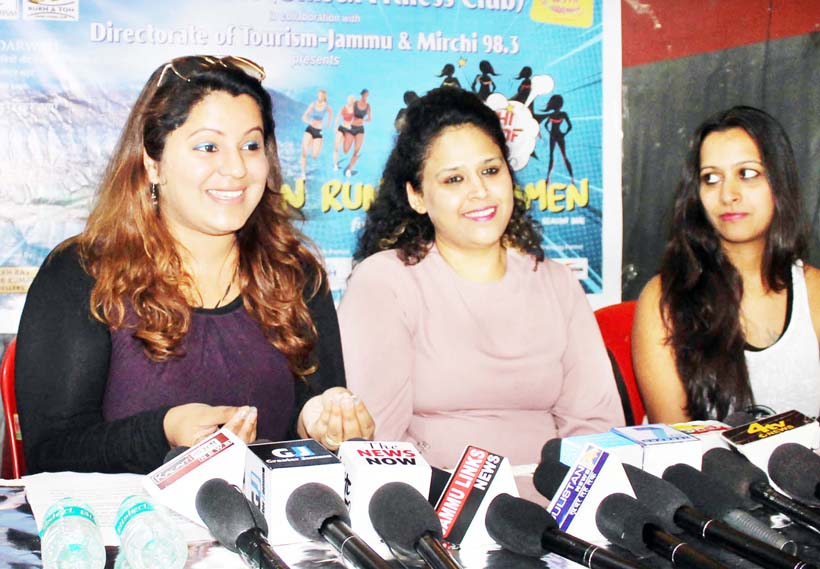 Organisers of 'She Runs This Town' addressing media persons in Jammu.-Excelsior/Rakesh