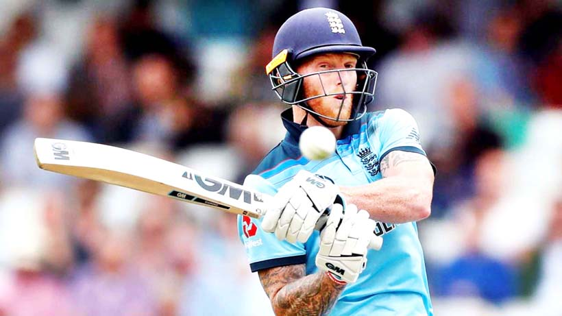 England's Ben Stokes executing a shot during his knock of 89 runs against South Africa in World Cup opener at London.