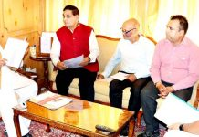 Governor Satya Pal Malik meeting Mayor JMC, Chander Mohan Gupta on Tuesday.
