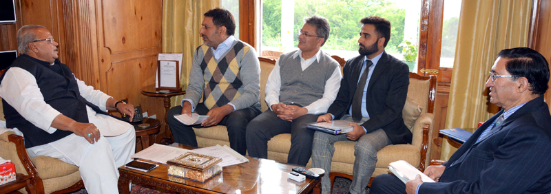 Governor interacting with KCCI delegation on Saturday.