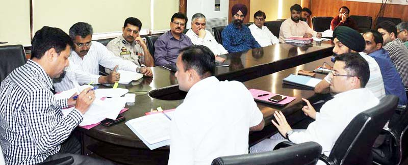 Divisional Commissioner Sanjeev Verma chairing a meeting on Wednesday.