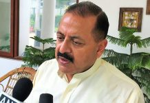 Union Minister Dr Jitendra Singh speaking to media persons at New Delhi on Saturday.
