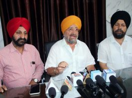 SGPB chairman, T S Wazir addressing press conference in Jammu on Thursday. -Excelsior/Rakesh