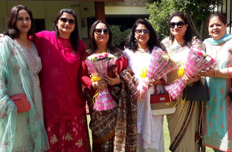Office bearers of IFS Officers Wives' Association after their election.