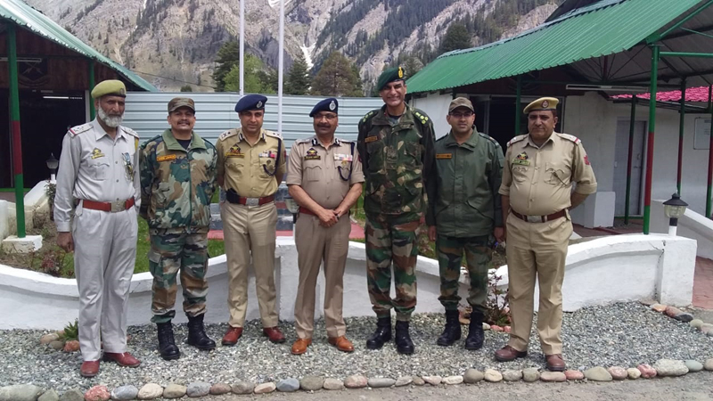 DGP Dilbag Singh during visit to Gurez on Thursday.