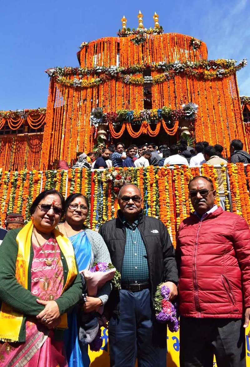 The Badrinath Dham opened for the devotees on Friday. (UNI)