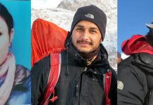 Ace mountaineers Stanzin Youthog, Manik Slathia and Ambreen Fatima.