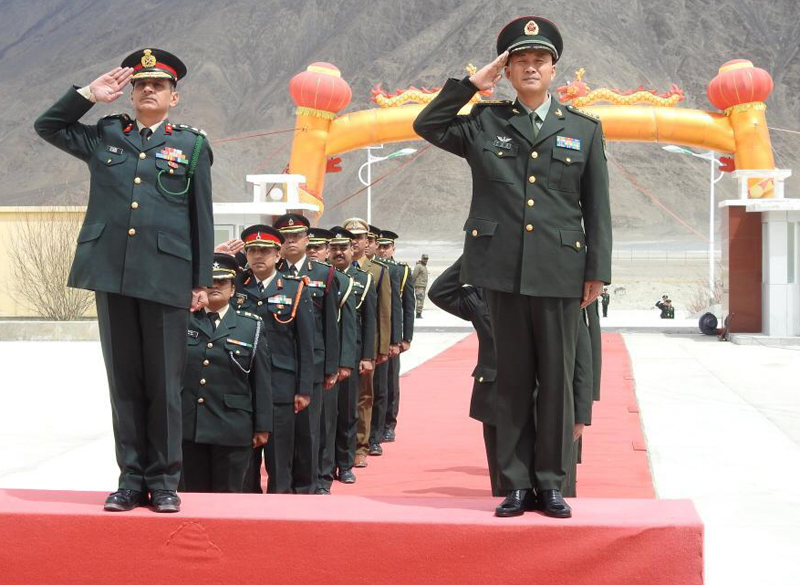 India, China Military officials at a BPM in Eastern Ladakh on Wednesday.