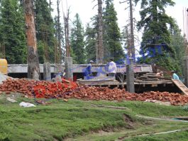 Illegal constructions in full swing in tourist resort of Gulmarg. -Excelsior/Aabid Nabi